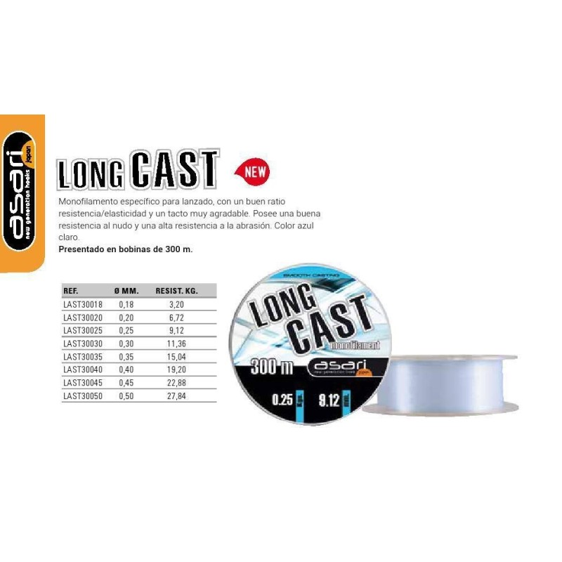 B/300M ASARI LONG CAST 0.18MM