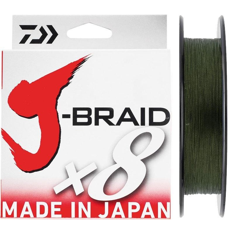 TRESSE JBRAID 8B 500M 0.20MM/GREEN