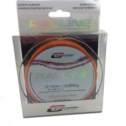 BOBINA HILO CINNETIC RAYLINE 2000MTS - 0.14  ORANGE FIRE