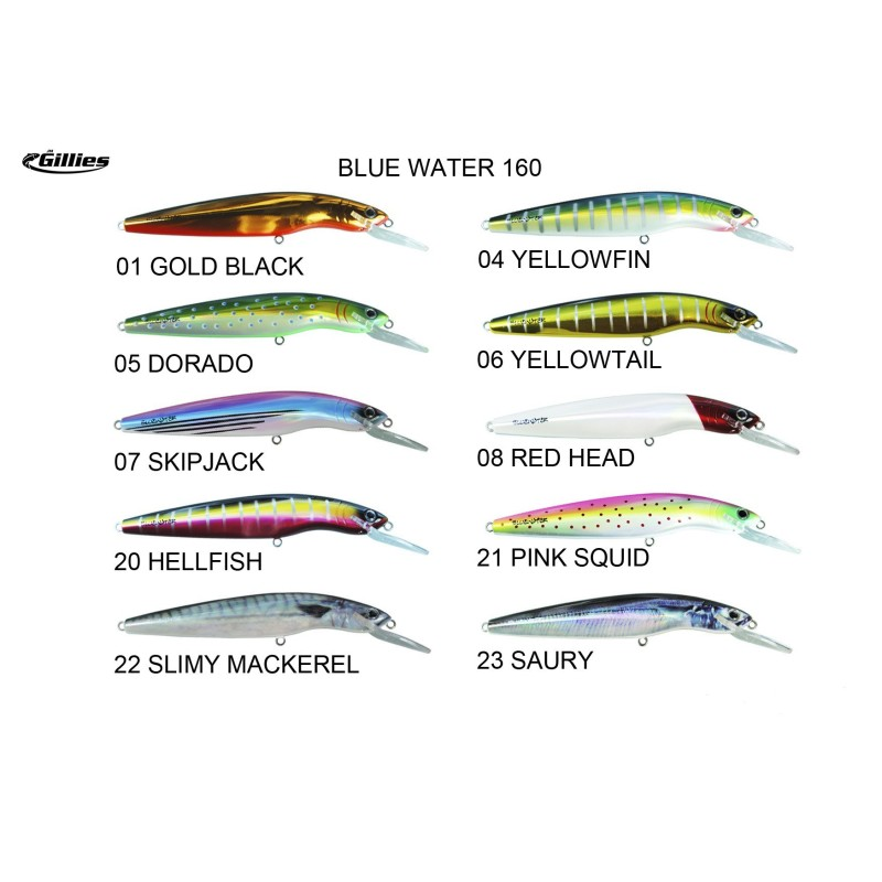 BLUE WATER 160 -160MM/29GR  5M YELLOWFIN