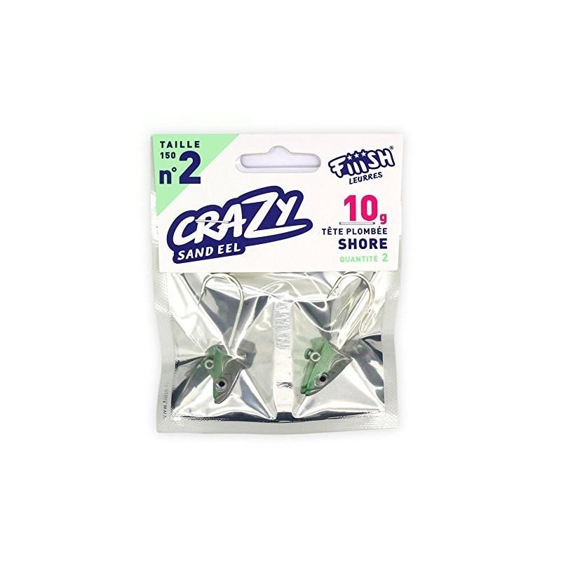 CrazySandEel1002OffShorejighead10grPearlGreen