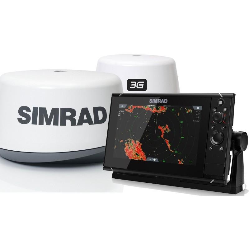 Pack Radar Simrad 3G + Sonda GPS Plotter Simrad NSS9 evo3