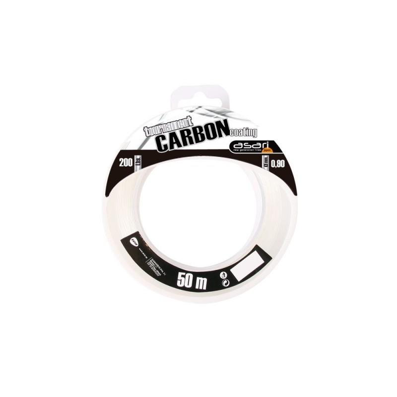 BOBINA 50M ASARI TOURNM CARBON COATING 50 LB